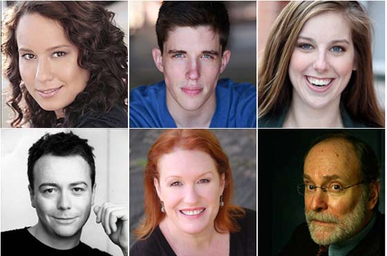 The Actors: Top (l to r) Dana Thomas, John Zdrojesk,i, Emily Kunkel, Bottom (l to r) Matt Neely, Peggy Pharr Wilson, Robert Zukerman.