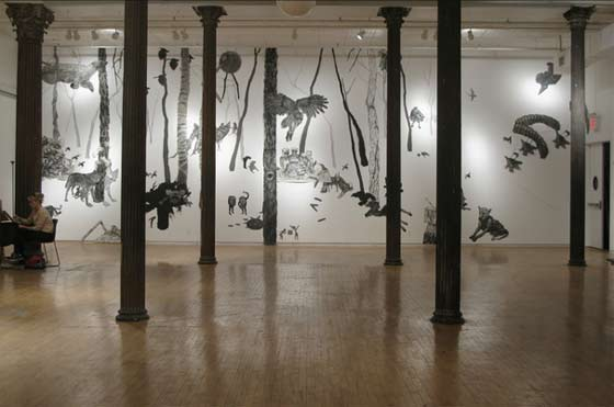 Aliene de Souza Howell: The Tomorrow Forest Installation @ Mandeville Gallery