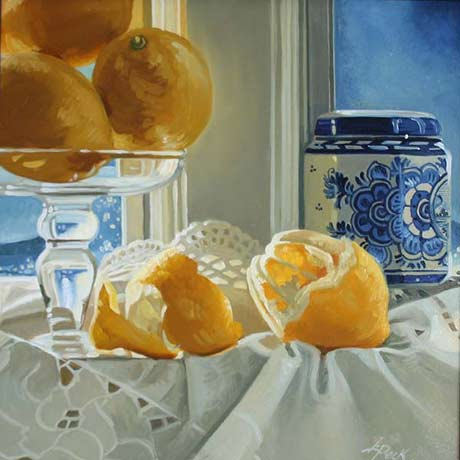 Leslie Peck: Lemons and Delft @ The Laffer Gallery