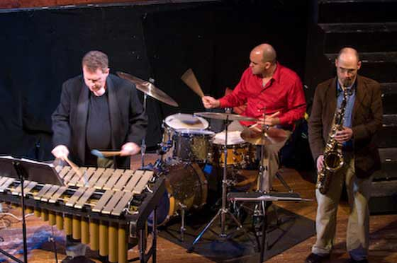Jazz Vibes; Michael Benedict, Joe Barna and Lee Russo (photo by Rudy Lu)