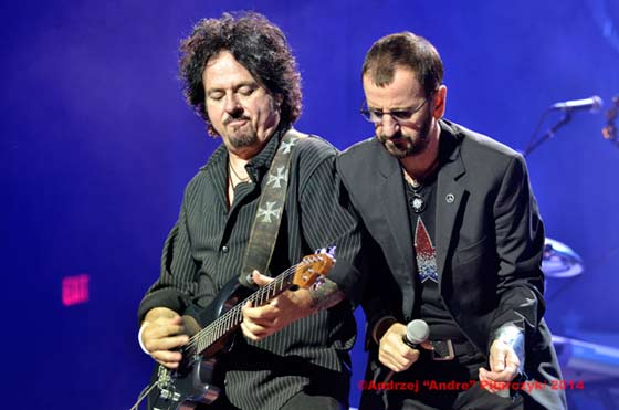 Steve Lukather and Ringo Starr