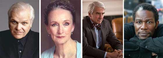 (l to r) Briand Dennehy, Kathleen Chalfant, Sam Waterston, John Douglas Thompson.