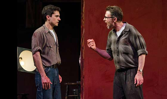 """Red"" at the Dorset Theatre Festival starring Tim Daly and Charles Socarides (photo: Taylor Crichton)"