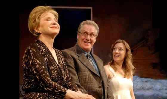 (L. to R.): Debra Jo Rupp (Lilian), Paul O'Brien (Nathan) and Kim Stauffer (June), photo by Rick Teller.