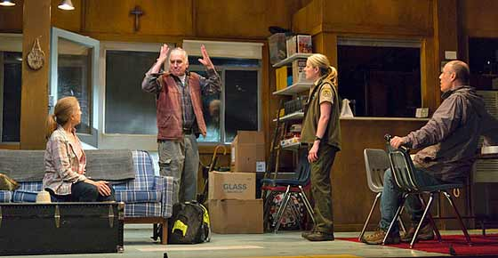 From left: Mia Dillon, Jeffrey DeMunn, Tasha Lawrence and Kevin Geer. (photo: T. Charles Erickson)