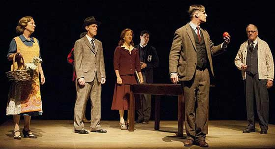 "Mark H. Dold and the cast of ""Breaking The Code"" (photo: Kevin Sprague.)"