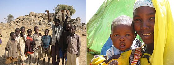 Playwright Winter Miller took these photos at a Darfuri refugee camp in Chad.