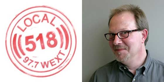 Andy Gregory hosts WEXT's Local 518 Show on Thursday evenings