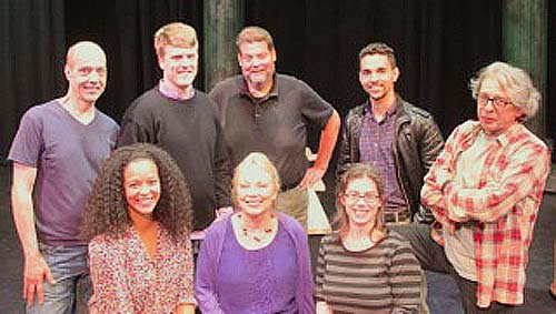Cast- Standing Right to Left: Tom Ferguson, Loren Dunn, Paul Romero, Anthony Irizarry, Richard Howe; and sitting Left to Right: Renata Eastlick, Melissa Hurst, Jody Schade.