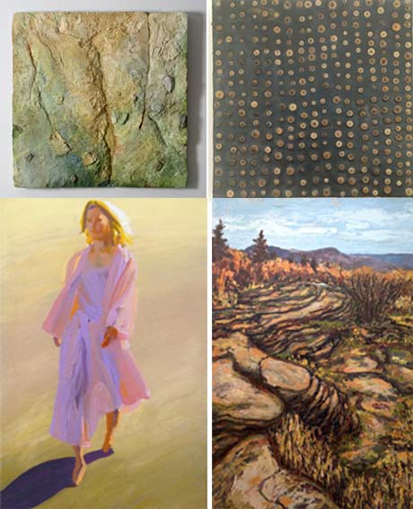 Clockwise from upper left: Linda Cross, Allyson Levy, Joshua Brehse and William Clutz @ Carrie Haddad Gallery