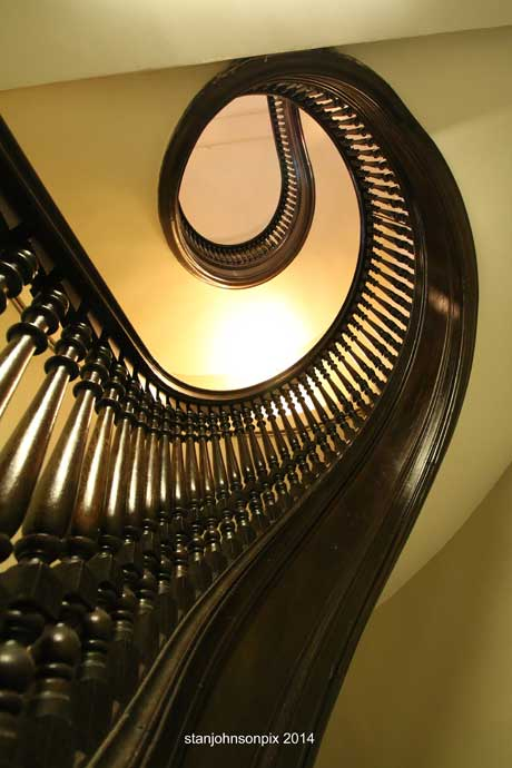 The Gloversville Library staircase