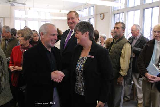 Richard Russo and Gloversville Library Director Barbara Madonna