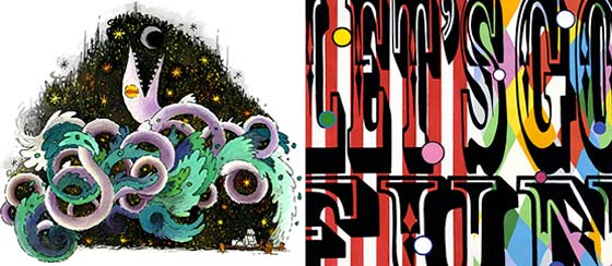 Works by Ira Marcks (left) and Seamus Liam O'Brien  @ Collar Works