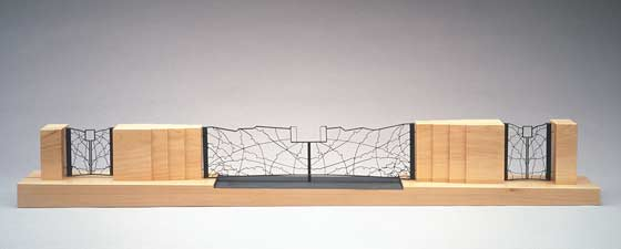 Gary Griffin: Scale Model, Entrance Gates, Cranbrook Academy of Art