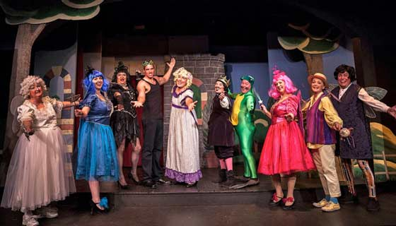 "The Pantoloons take a bow in last year's panto ""SleepFrog"" at The Ghent Playhouse. (photo: Daniel Region)"