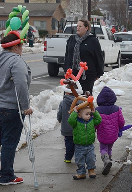 Macintosh the Clown's balloon handiwork is quite visible around town.