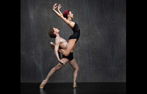 Céline Cassone & Daniil Simkin (photo: Ken Browar & Deborah Ory of NYC Dance Project)