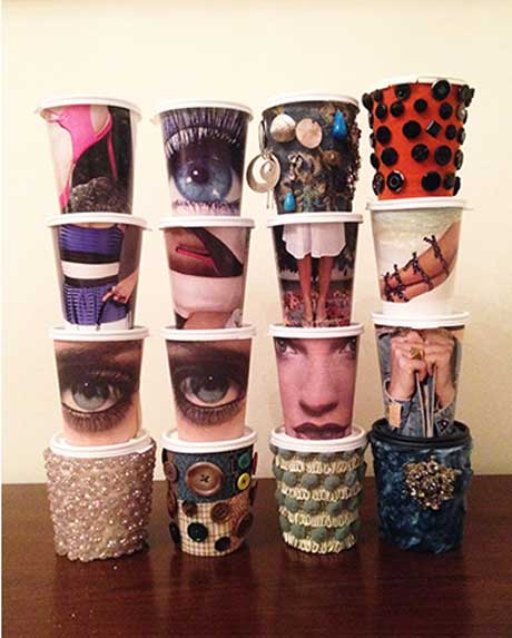 Eva Melas: Coffee Cups @  GCCA Catskill Gallery