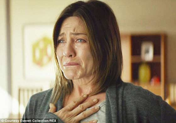 Jennifer Aniston iis thrilled she's up for a Razzie Redeemer Award as most improved.