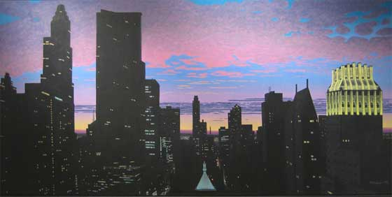 Bill Sullivan: Midtown Twilight @ Carrie Haddad Gallery