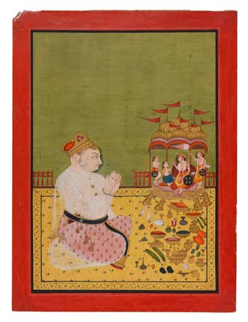 Unknown Artist, A Ruler Worshiping Rama, Sita, Lakshmana, and Hanuman @ The Tang