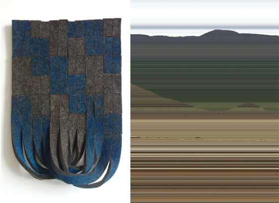 (left) Laura Kaufman: Shrug and (right) Matt Frieburghaus: Valley @ Matteawan Gallery
