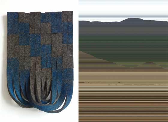 (left) Laura Kaufman: Shrug and (right) Matt Frieburghaus: Valley @ Matteawan Gallery