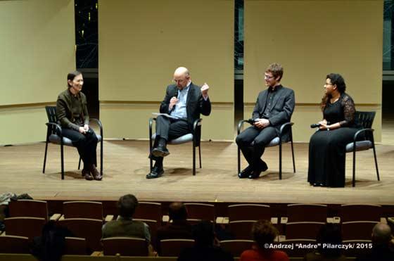 (from left) Meredith Monk, Gordon R. Thompson, Jacqueline Cordova-Arrington and Michael James Smith
