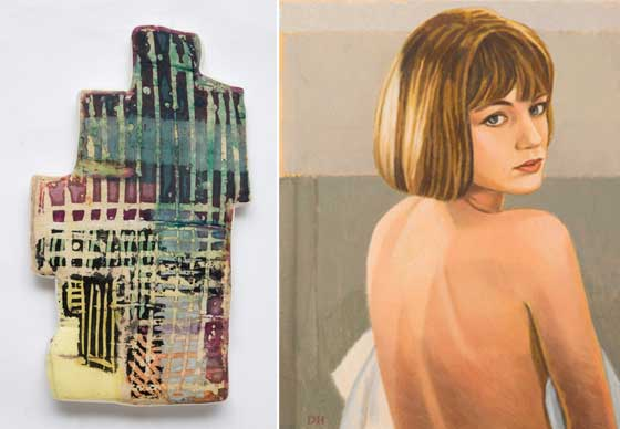 Works by Meg Lipke (left) and Duncan Hannah @ Jeff Bailey Gallery