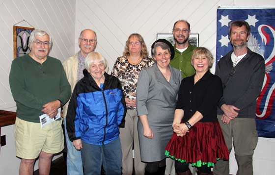 Grants recipients with Renee Nied (second from right)