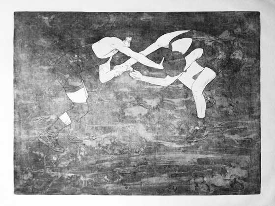 Luca Pearl Khosrova: Wrestlers @ Thompson Giroux Gallery