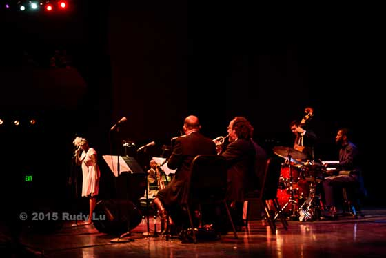 Cecile McLorin Salvant and band