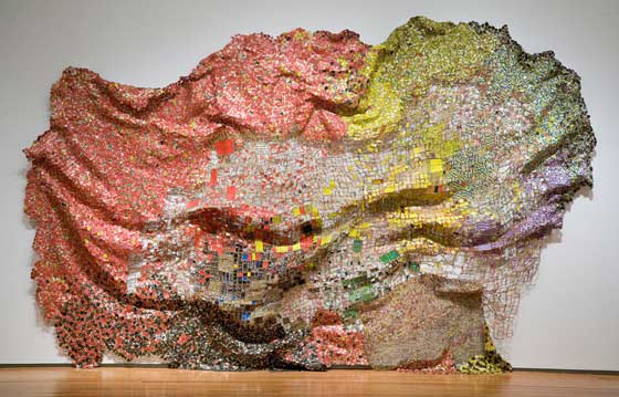 Works by El Anatsui @ The School
