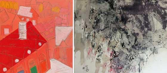 Works by Ellen Joffe-Halpern  and Wilma Rifkin @ MCLA Gallery 51