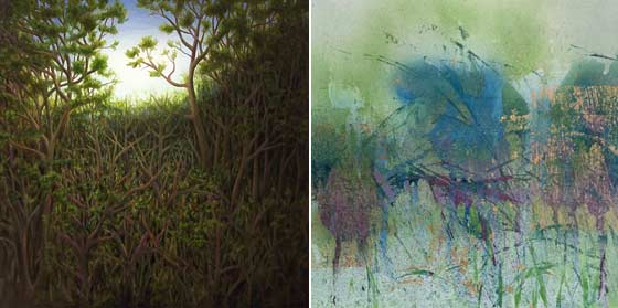 Laura Von Rosk: Untitled Woods II and Bruce Murphy: Pondering the Evolution @ Carrie Haddad Gallery
