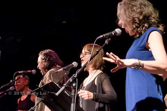 Gail Ann Dorsey, Jules Shear, Leslie Ritter and Kat Mills