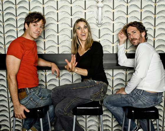 "The comedy trio Unitard (David Ilku, Mike Albo and Nora Burns) perform ""House of Tards"" (photo: Tom Ackerman)"