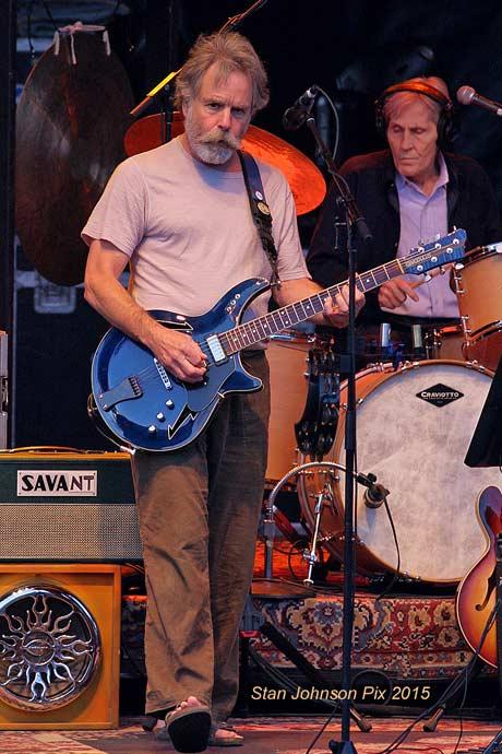 Bob Weir and Levon Helm at Mountain Jam, 2008