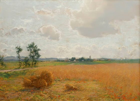 Wheat and Poppies, 1889-90 pastel on paper