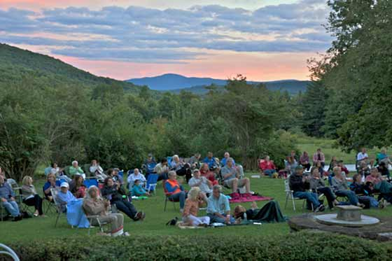 Chesterfest at sunset (photo: Paul Rocheleau)