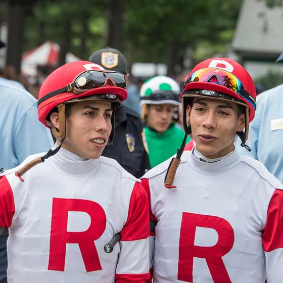 The Ortiz Brothers – Jose and Irad – entering the paddock before a week, 7/26/2015.