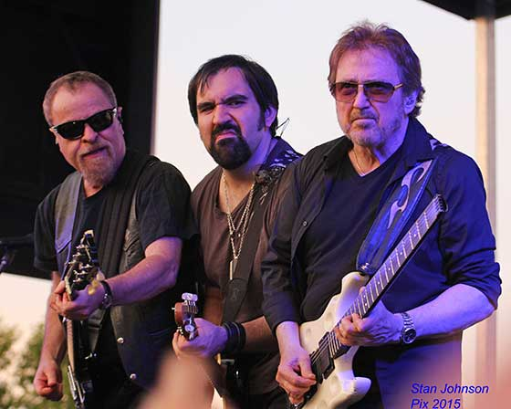 Eric Bloom, Richie Castellano and Buck Dharma (photo by Stanley Johnson)