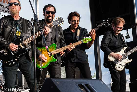 Eric Bloom, Richie Castellano, Kasim Sulton and Buck Dharma (photo by Ed Conway)
