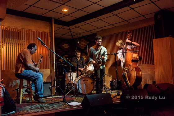 Jam session: Rich Rosenthal, Dave Berger, Adam Siegel and Harry D'Agostino