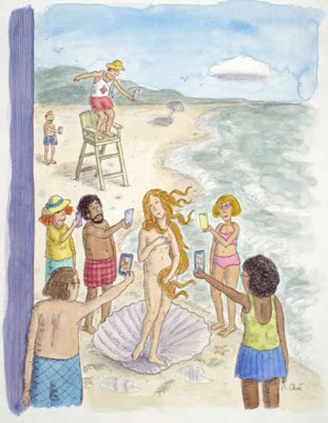 A New Yorker cover drawing by Roz Chast