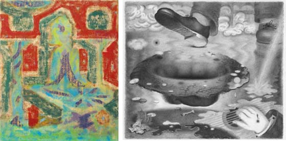 Works by Michael Berryhill and Joshua Marsh @ Jeff Bailey Gallery