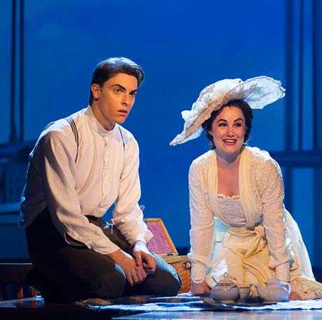 Derek Klena (Francis Grand) and Lauren Worsham (Lucy Lemay). (photo: T. Charles Erickson)