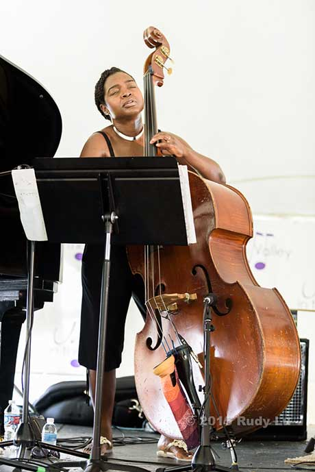 Mimi Jones of the Tia Fuller Quartet