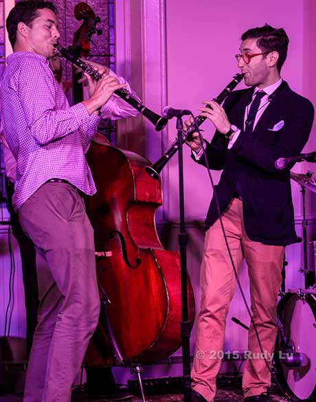 Surprise guests Evan Artsen and Bobby Kendall with Giacomo Smith