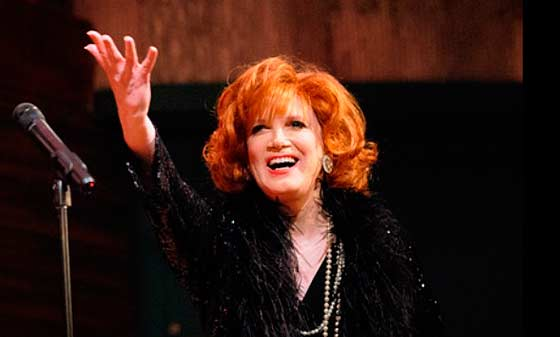 Charles Busch on stage. (photo: Stephen Sorokoff)